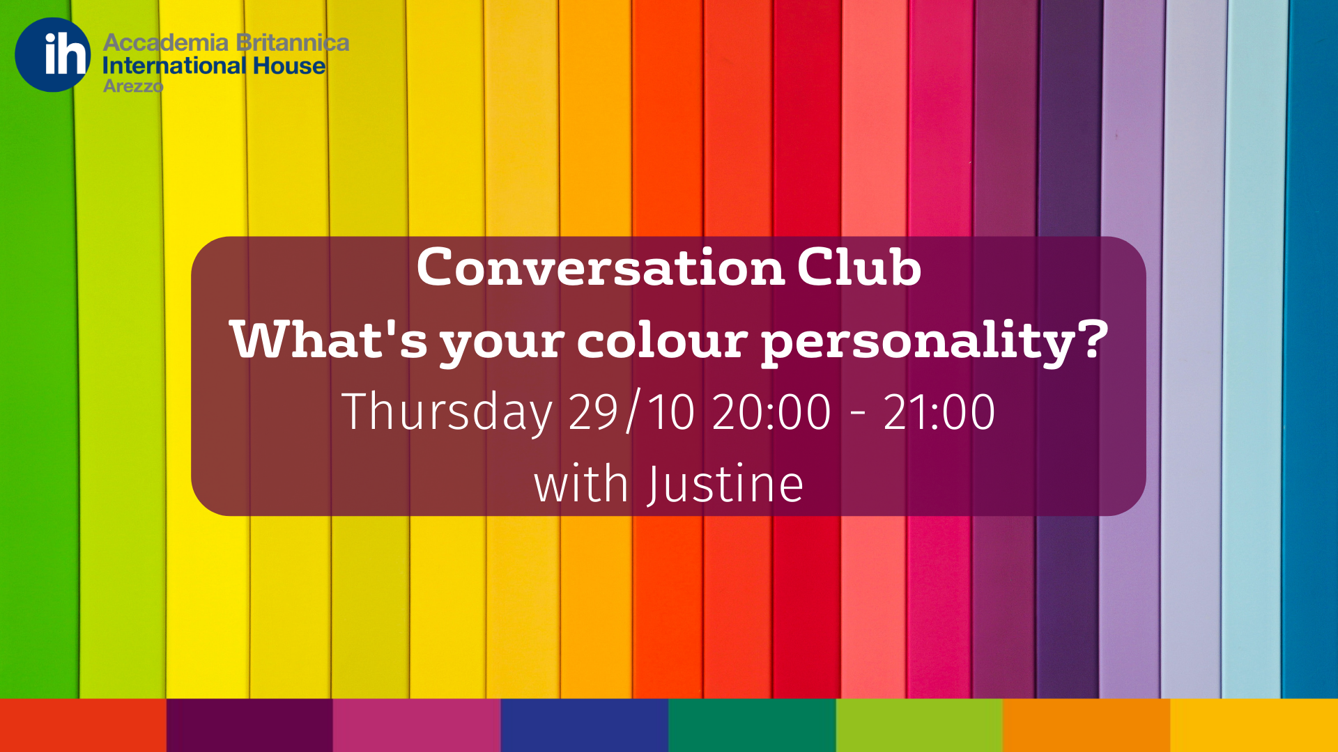 Conversation Club 29.10.20 | Accademia Britannica IH Arezzo