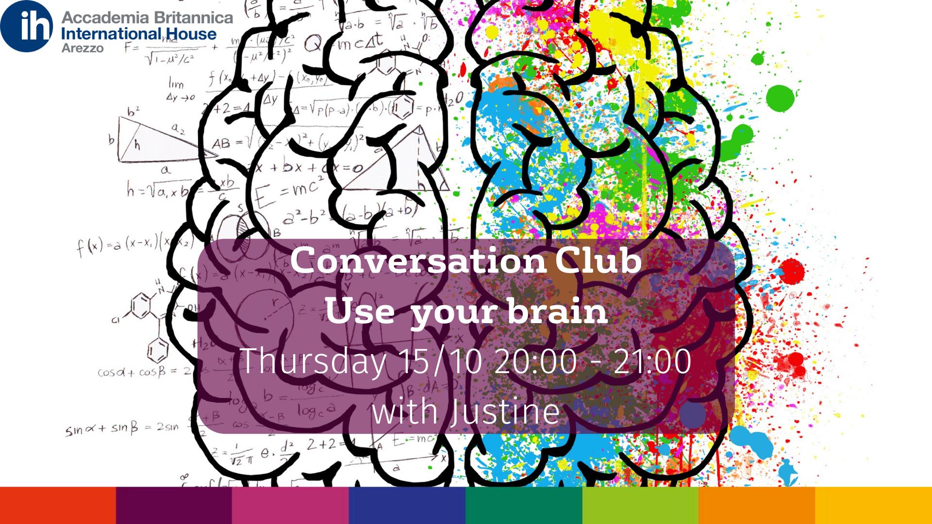 Conversation Club 15.10 | Accademia Britannica IH Arezzo