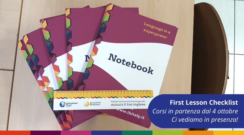 First Lesson Checklist